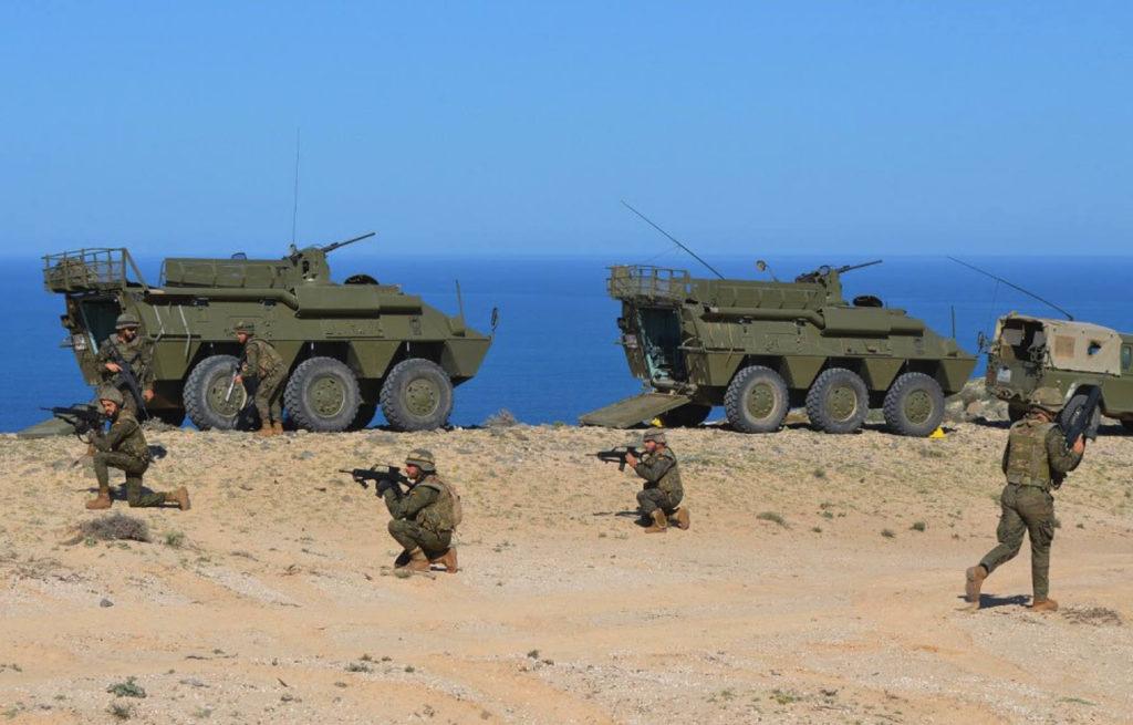 Ejercicio de preparación de las unidades del Mando de Canarias próximas a desplegar en Irak y Mali