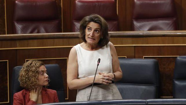 """La ministra de Transición Ecológica, Teresa Ribera, ha dicho en el Senado que la partida de 8 millones de euros para compensar la captación de agua de riego agrícola """"se ha perdido"""""""