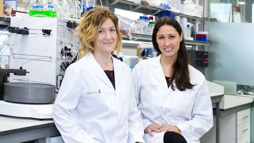 Marie-Eve Beaulieu y Laura Soucek, cofundadoras de Peptomyc y responsables del desarrollo del fármaco.