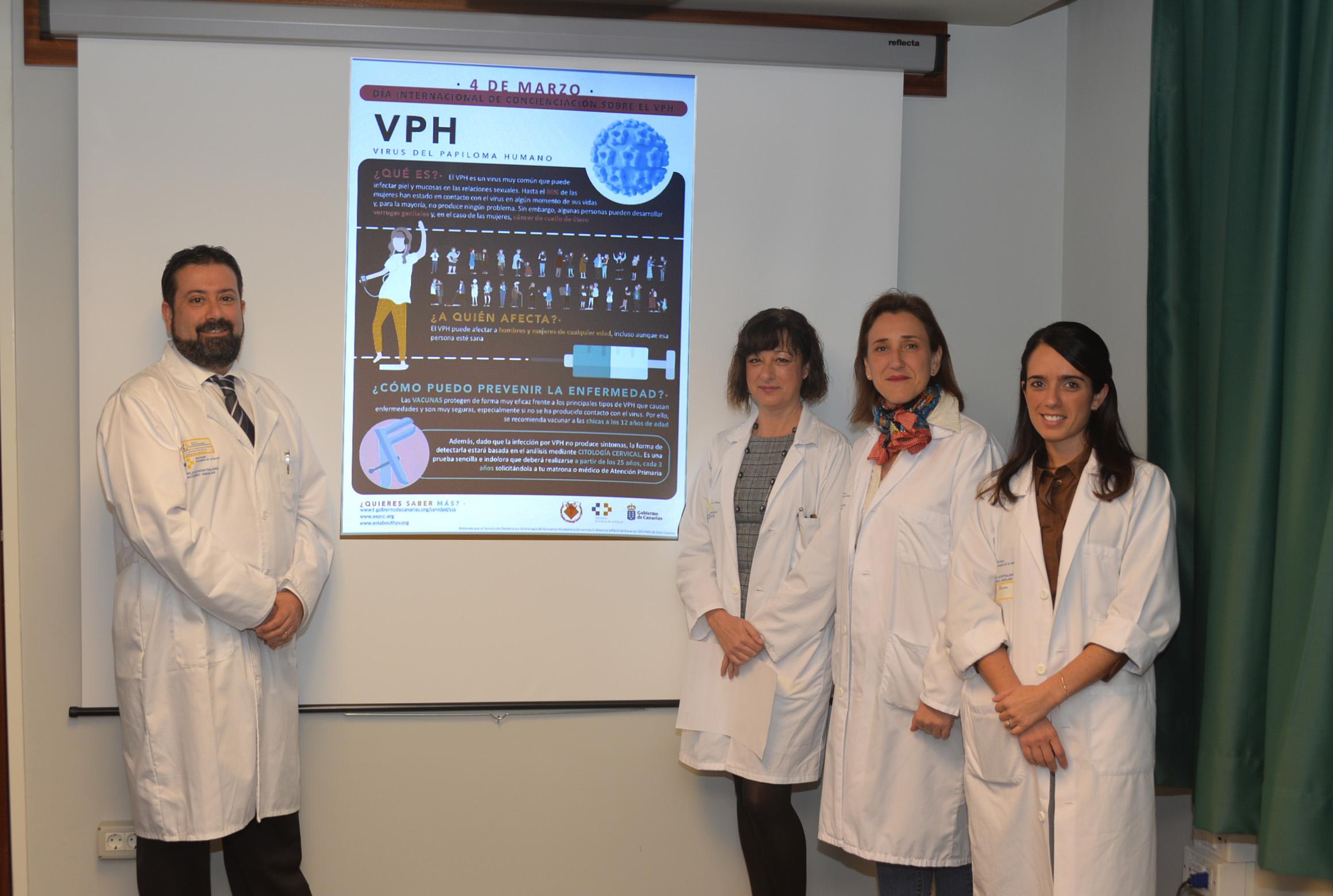 El Materno-Infantil participa en la jornada internacional de concienciación del virus del papiloma humano