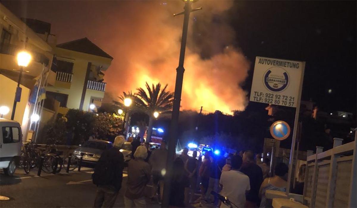Controlado el incendio de Valle Gran Rey