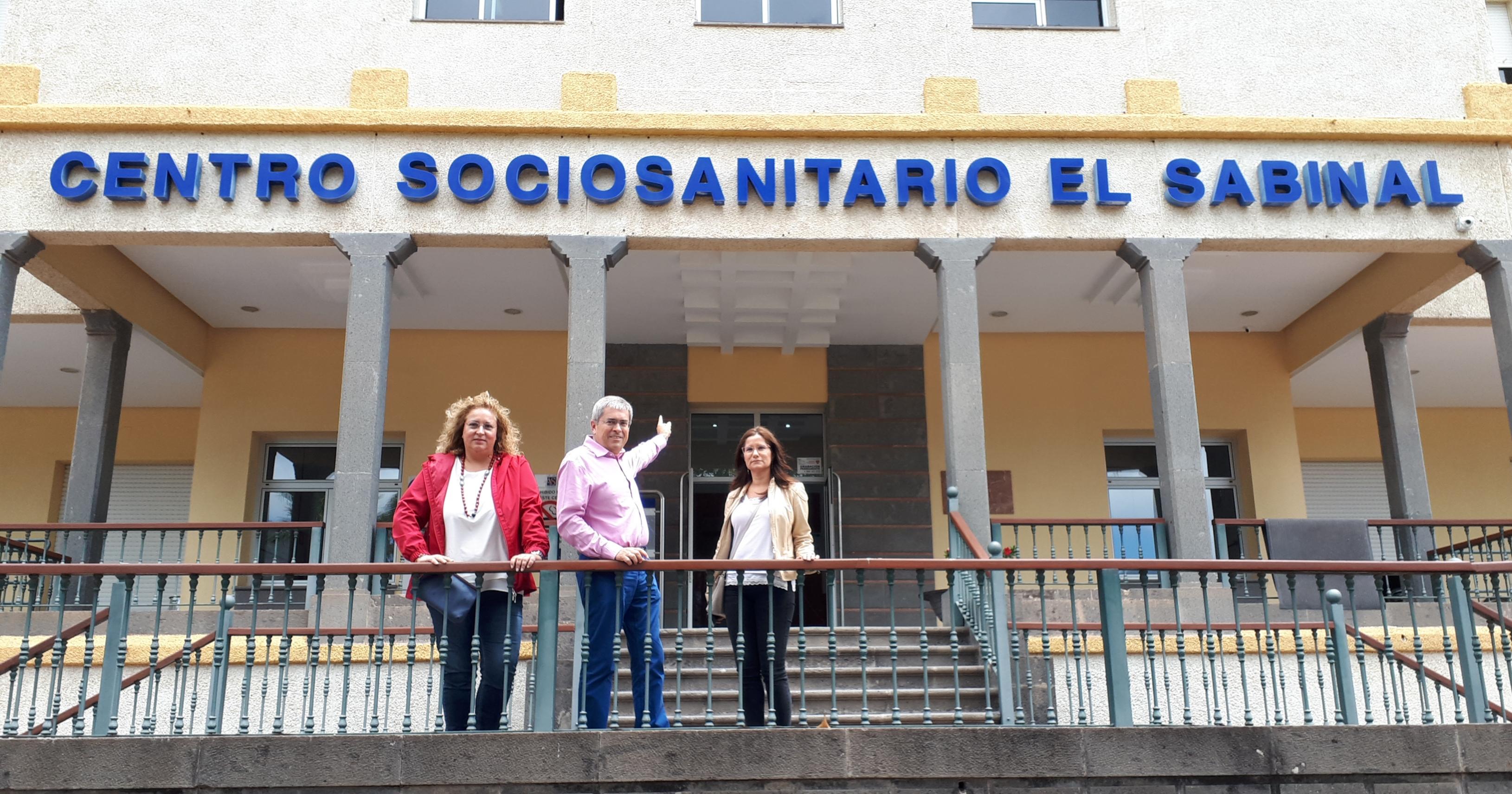 Marco Aurelio Pérez en el Centro Sociosanitaro El Sabinal