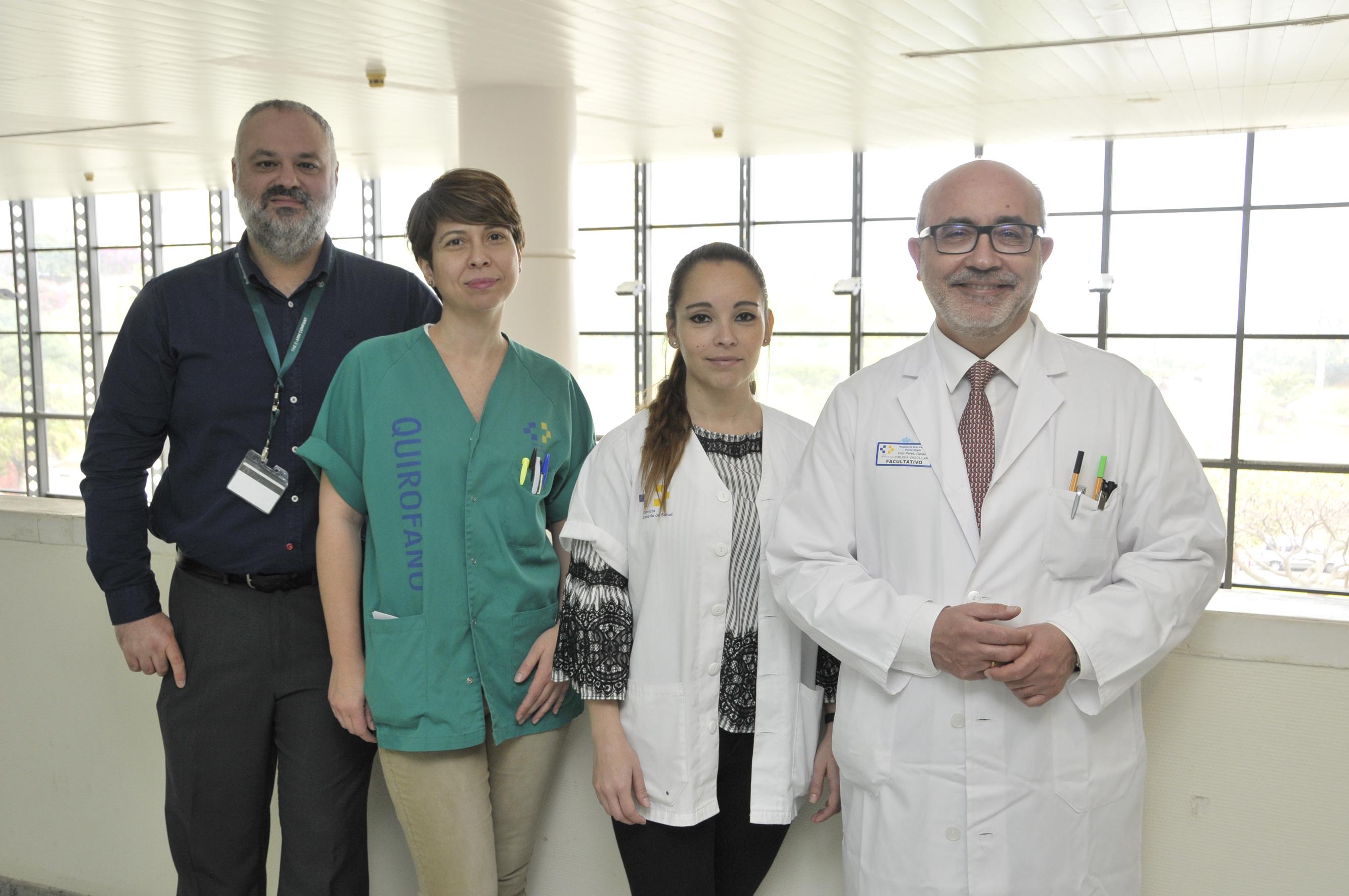 El servicio de Cirugía Vascular del Hospital Dr. Negrín presentará en el 65 Congreso Nacional los resultados de las técnicas endovasculares realizadas en el centro hospitalario