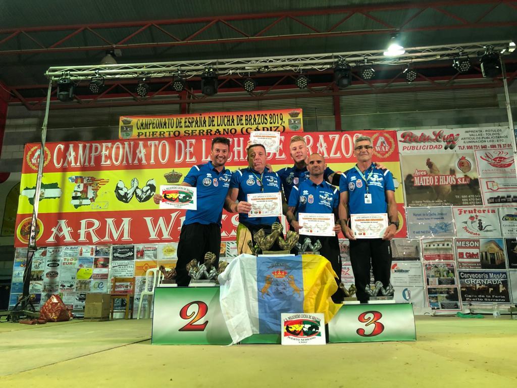 Los granadilleros destacan en el Campeonato de España de lucha de brazos