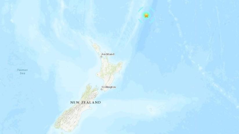 Epicentro del sismo de Nueva Zelanda