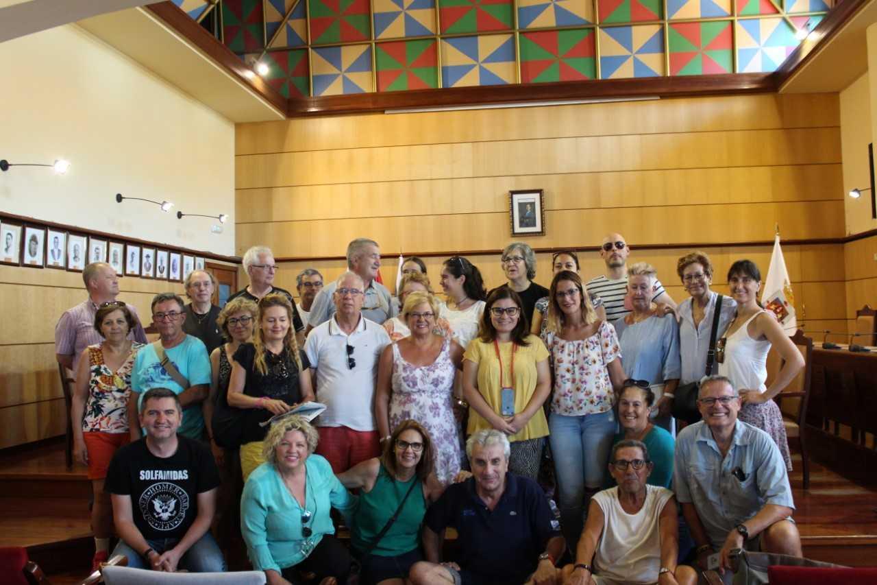 Recepción en Candelaria a la Agrupació Ball Mallorquí Sa Sínia de Consell