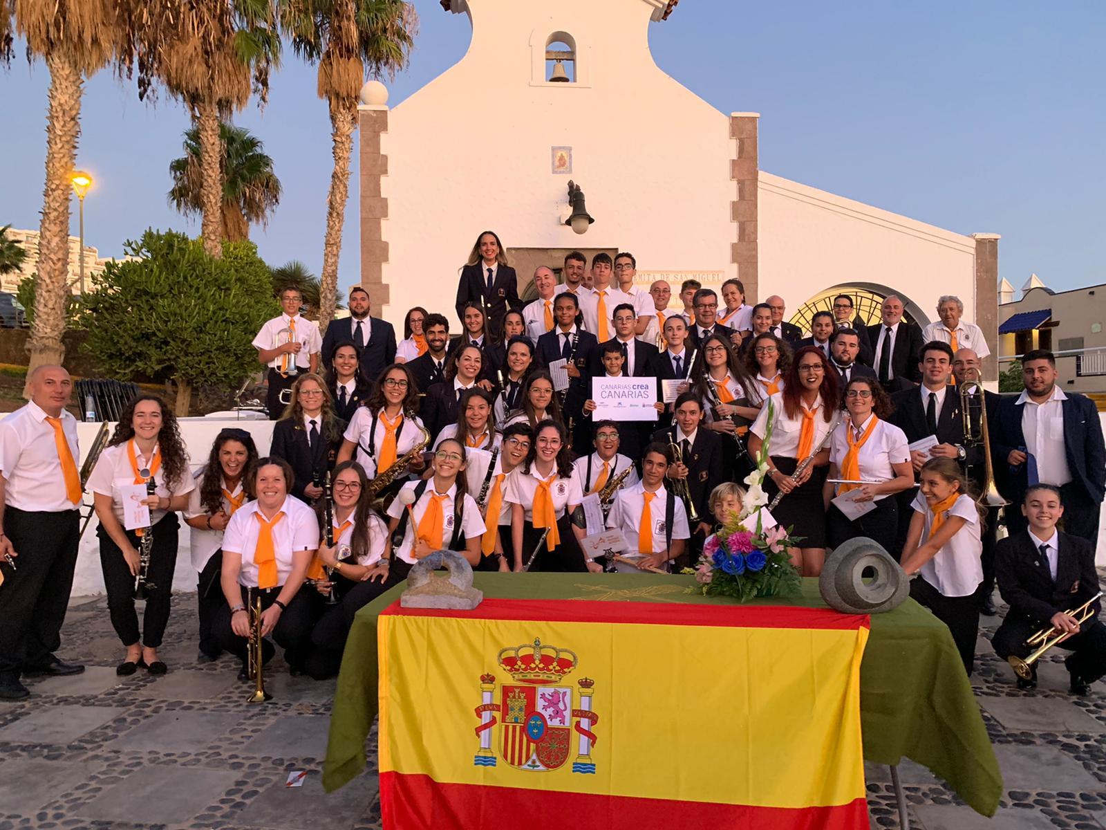 La banda de música de Agulo triunfa en Fuerteventura
