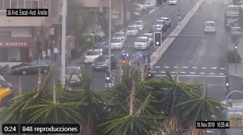 Un menor de 12 años herido moderado tras un atropello en Las Palmas de Gran Canaria