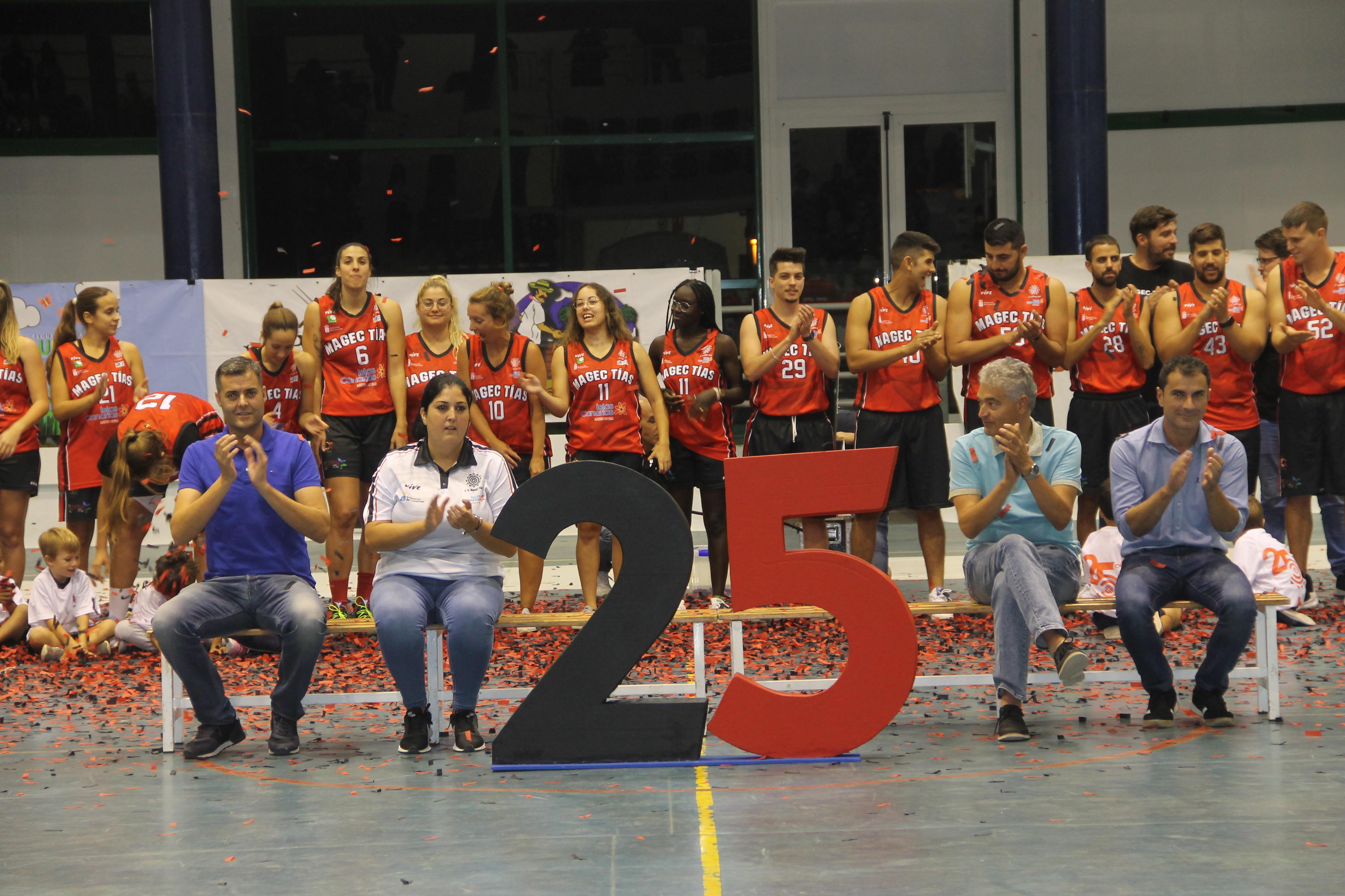 El CD Magec Tías muestra su solidez como club en su 25 aniversario