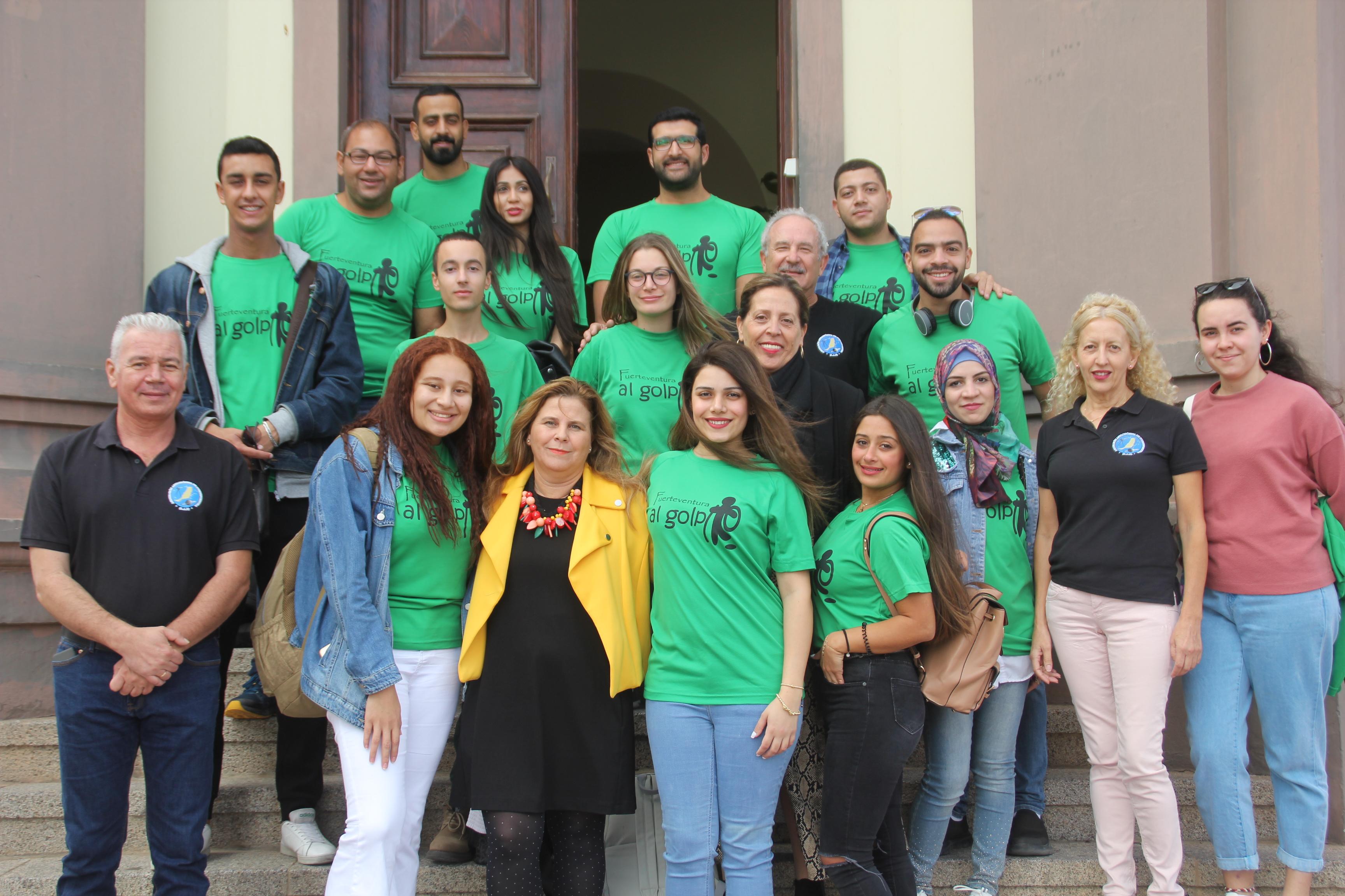 El Cabildo de Fuerteventura recibe a los estudiantes de intercambio astronómico Stardust 2019