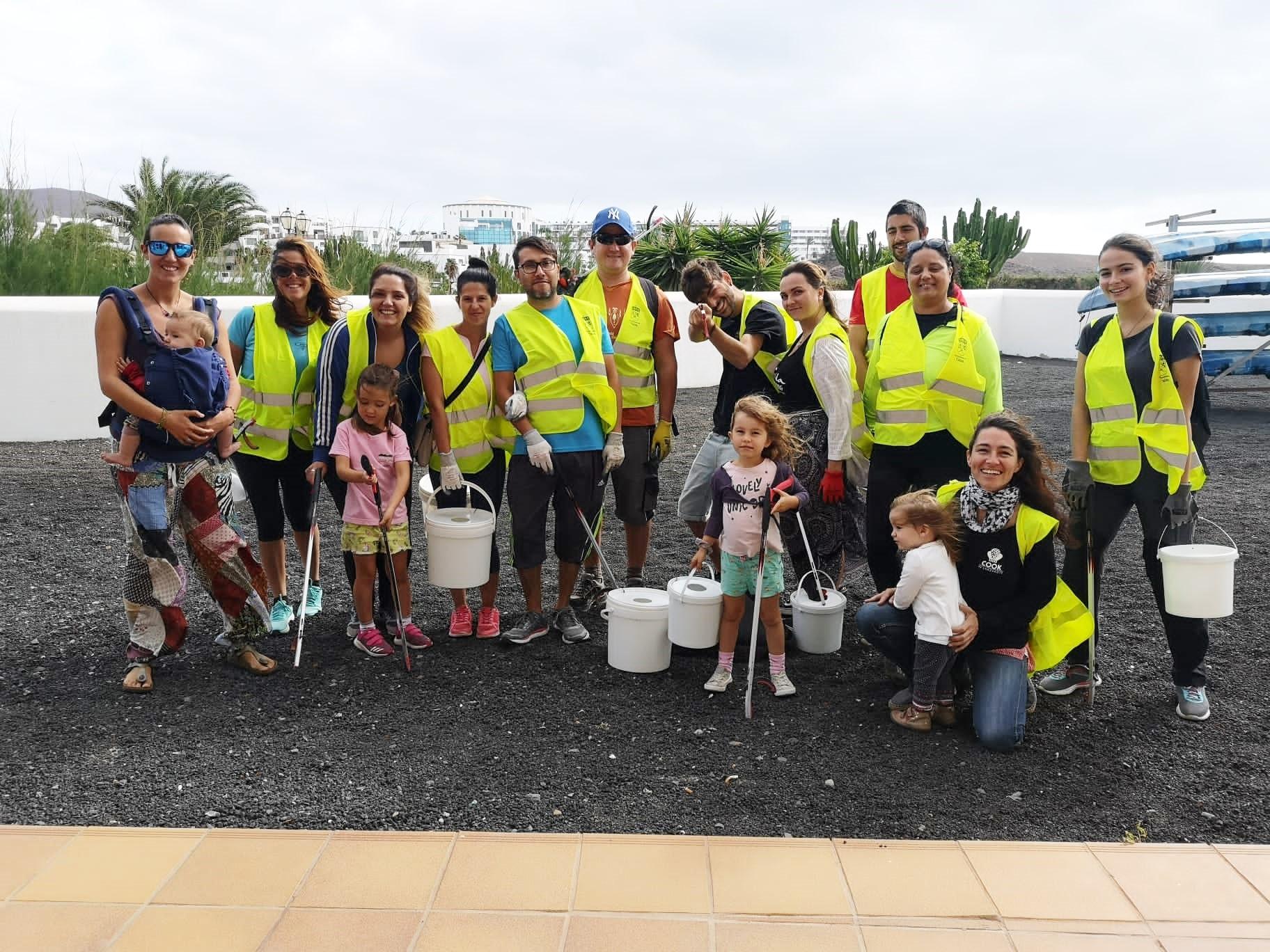 Voluntarios de Yaiza continúan sensibilizando sobre el cuidado del medio ambiente