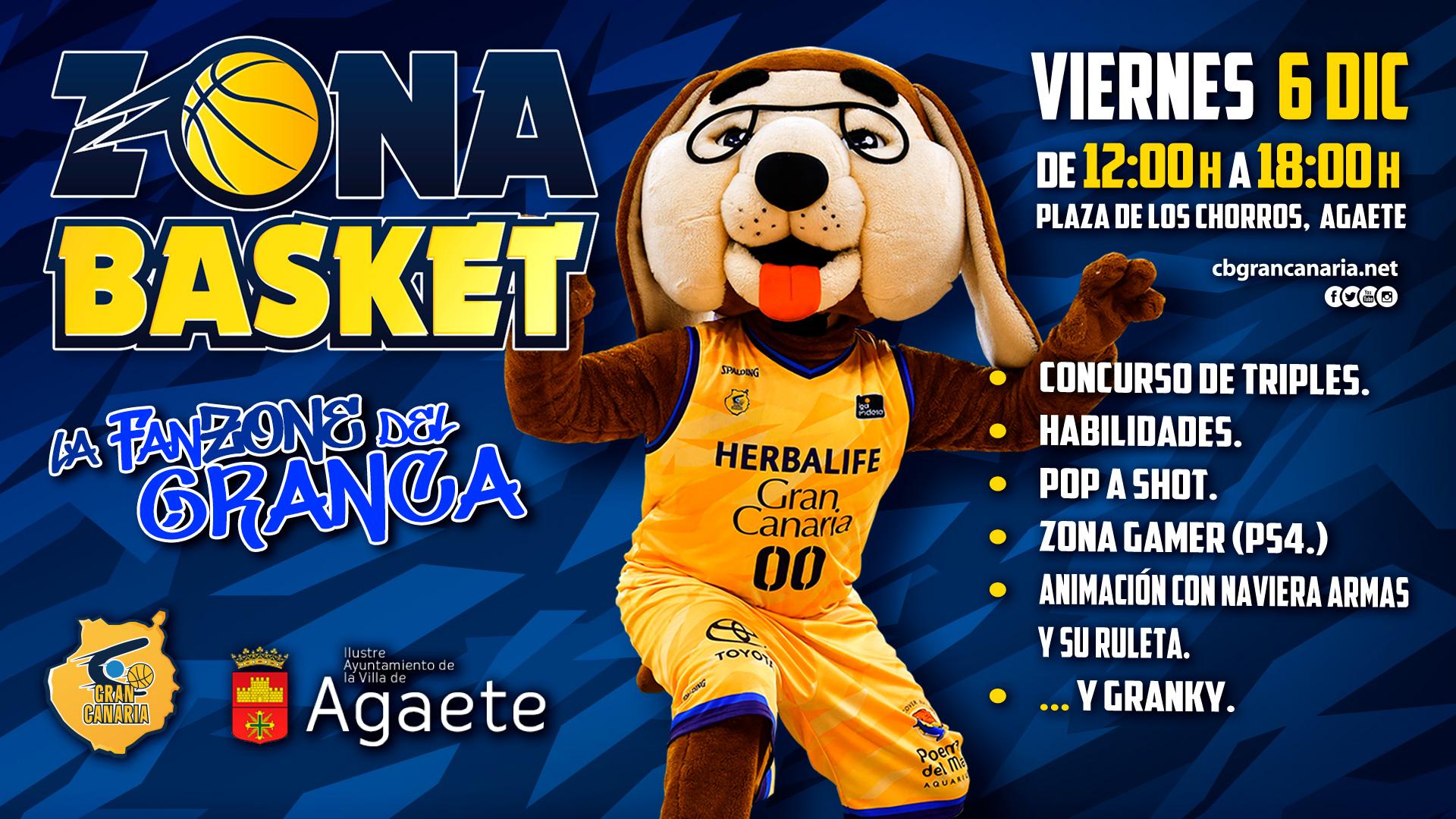 'CB Gran Canaria - Zona Basket', la fiesta del baloncesto aterriza en Agaete