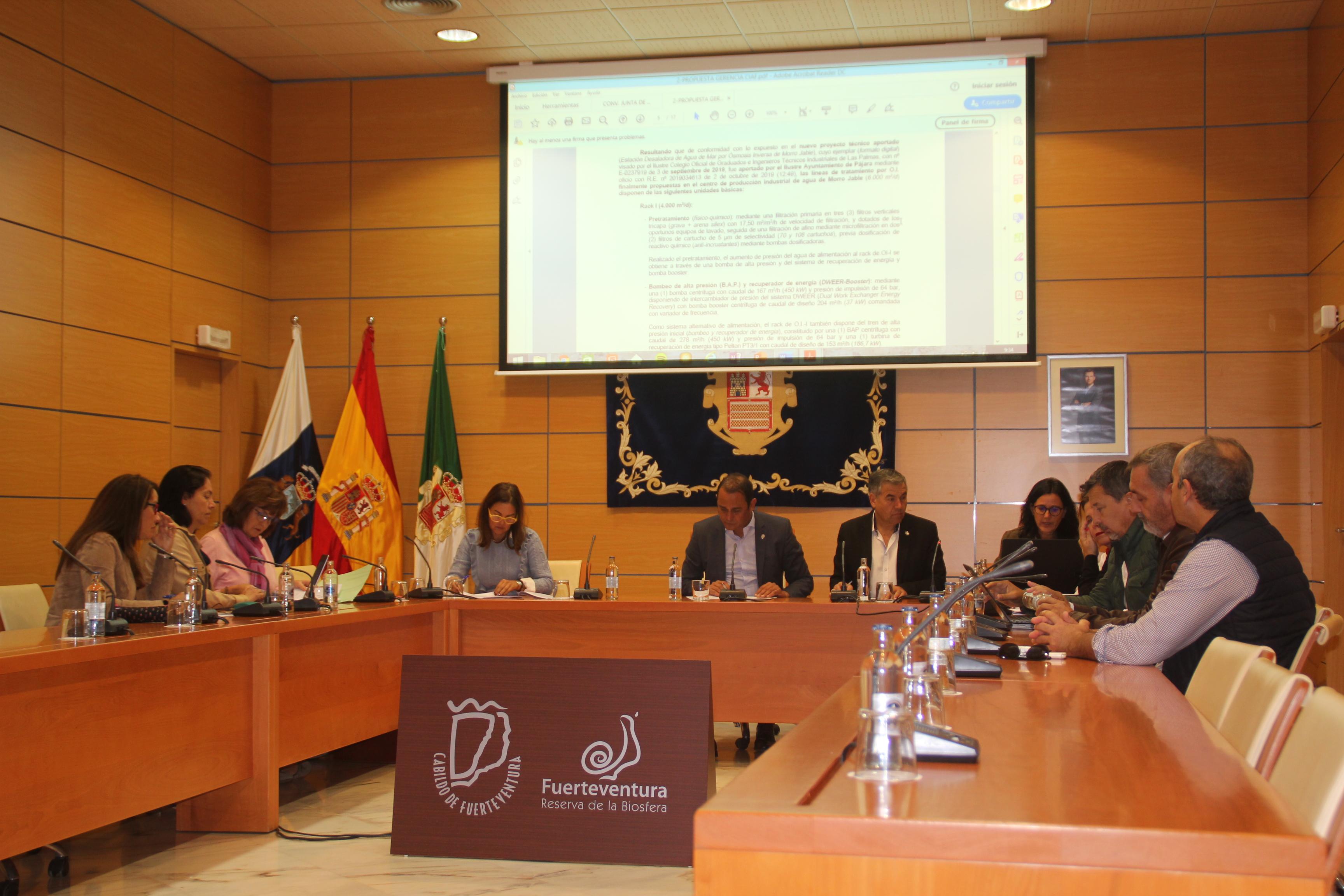 El Consejo Insular de Aguas aprueba por unanimidad la propuesta de Declaración de Situación de Emergencia Hídrica en Fuerteventura