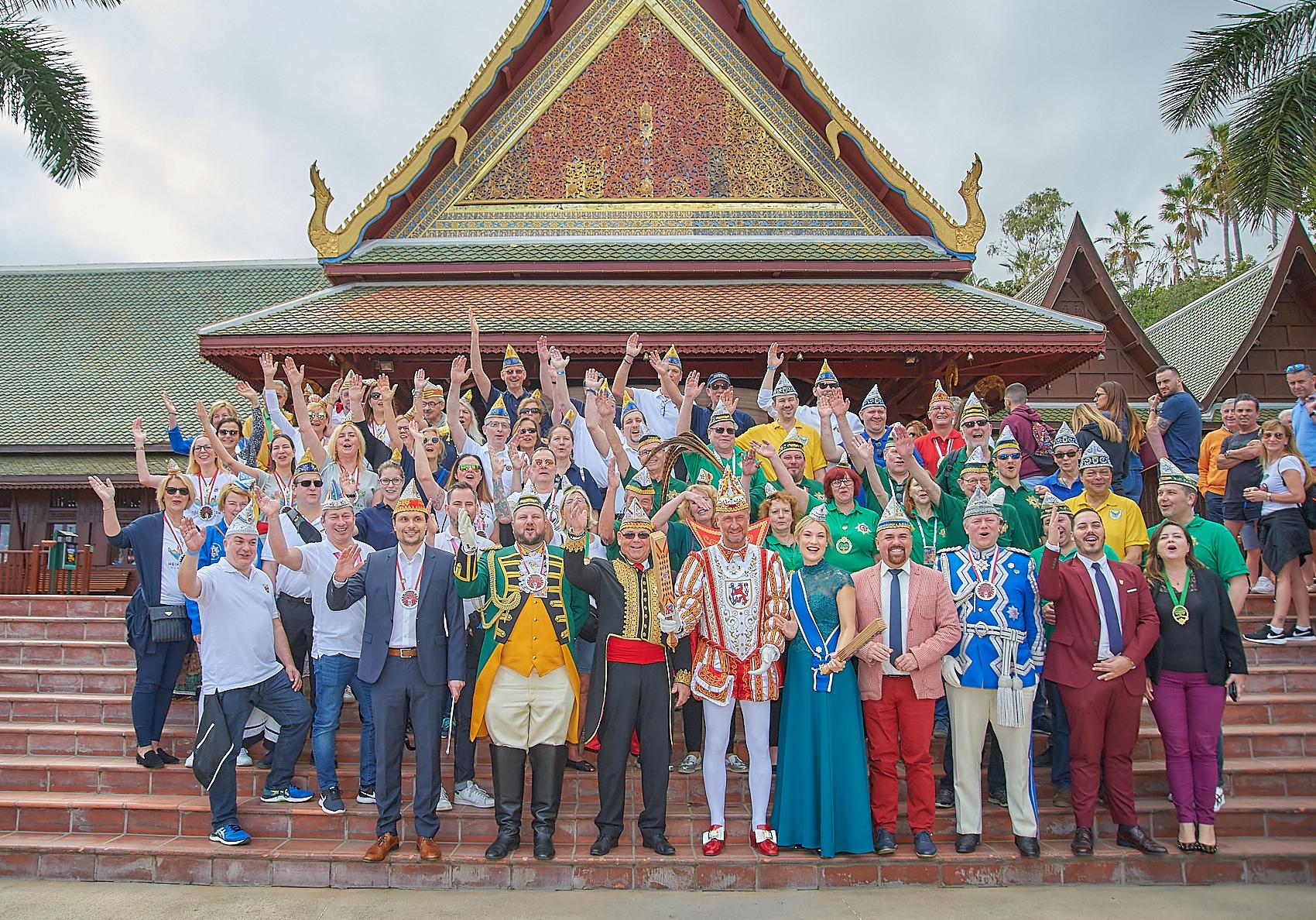 Loro Parque recibe a las delegaciones del Carnaval alemán