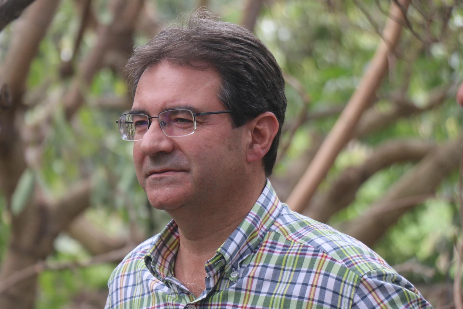 El consejero de Agricultura del Cabildo de La Palma José Adrián Hernández