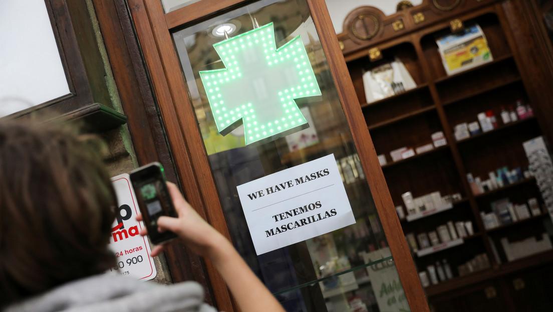 Venta de mascarillas en Farmacias