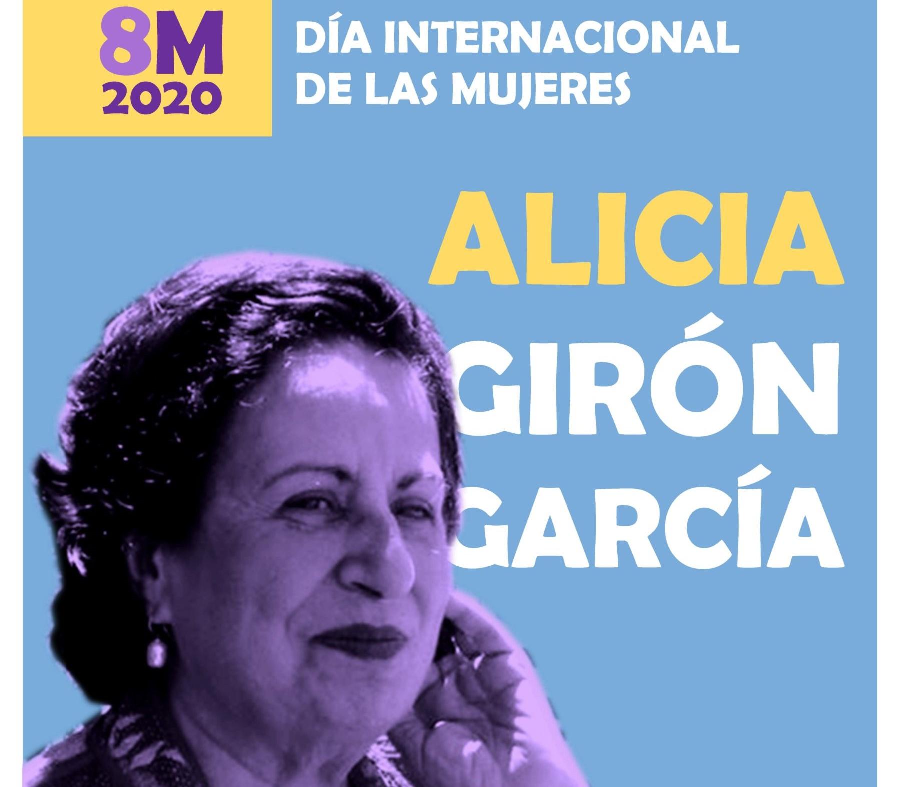 Cartel homenaje a Alicia Girón García en la ULPGC por el Día Internacional de la Mujer