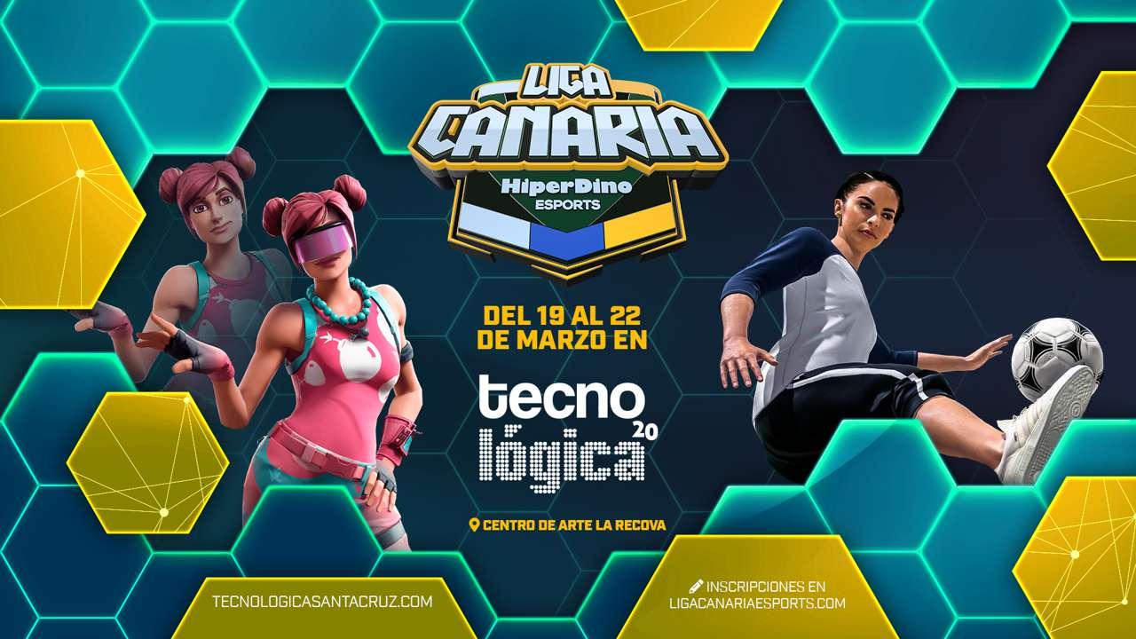 Cartel de Tecnológica Gaming de la Liga Canaria de Esports HiperDino