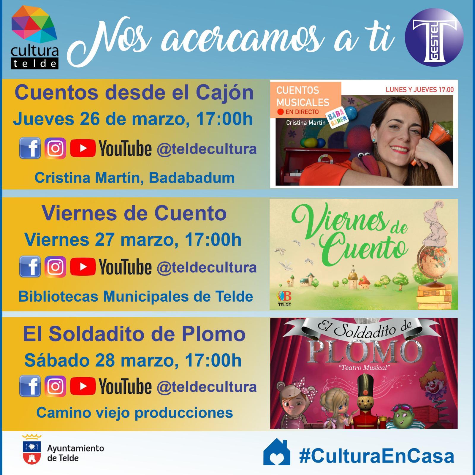 Telde acerca la cultura a los hogares del municipio a través de las redes sociales