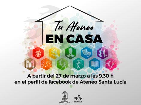 EL Ayuntamiento de Santa Lucía quiere ayudar a llevar mejor el confinamiento con actividades culturales y deportivas a través de las redes sociales
