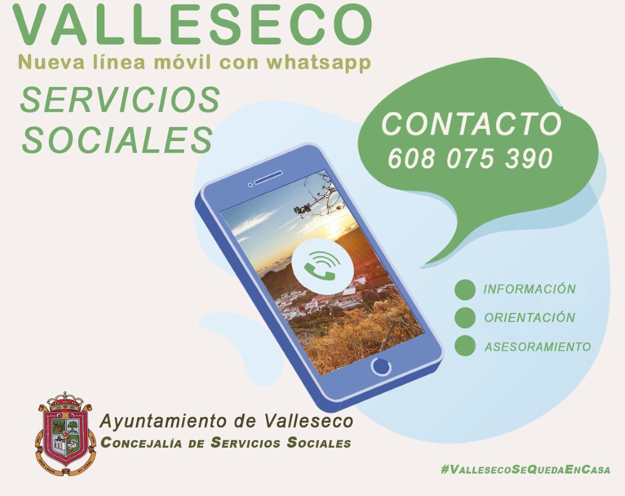 Servicios Sociales de Valleseco refuerza las vías de comunicación con la vecindad