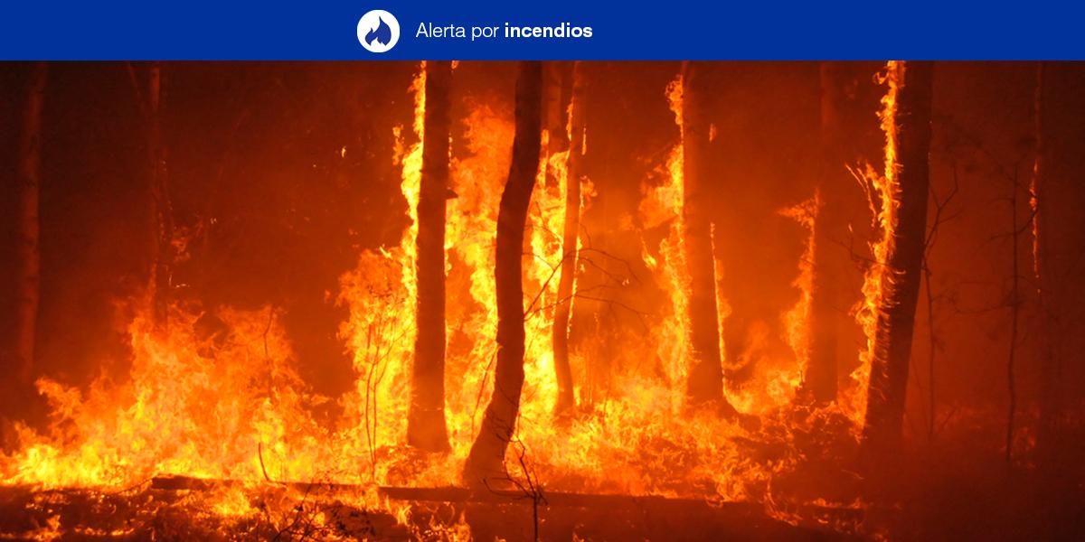 Alerta por Riesgo de Incendios Forestales