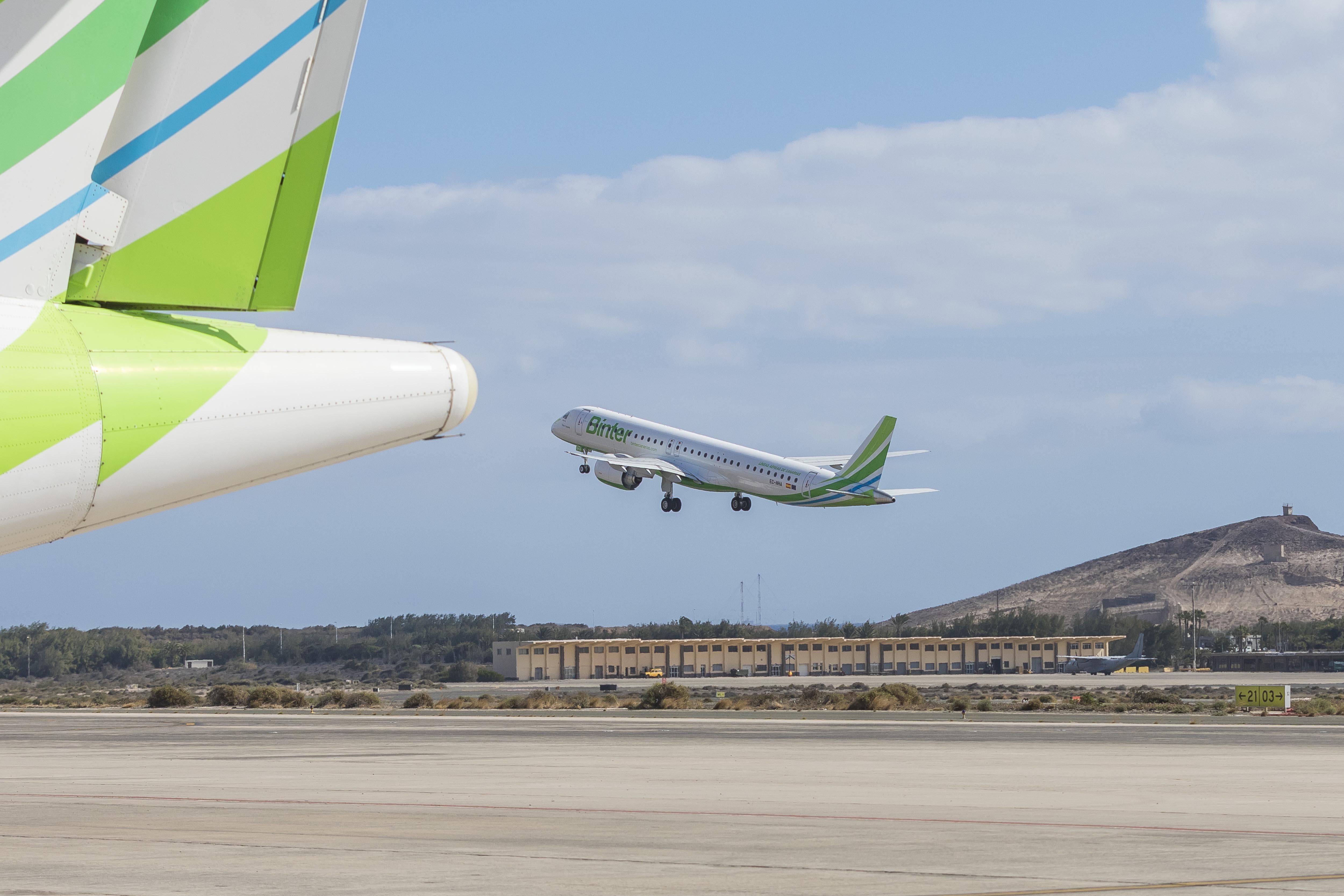 Binter retoma sus vuelos entre Canarias, la Península y Baleares