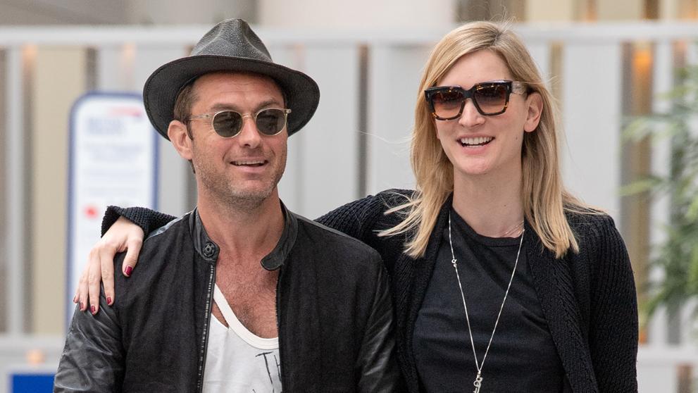 Jude Law y Philippa Coan