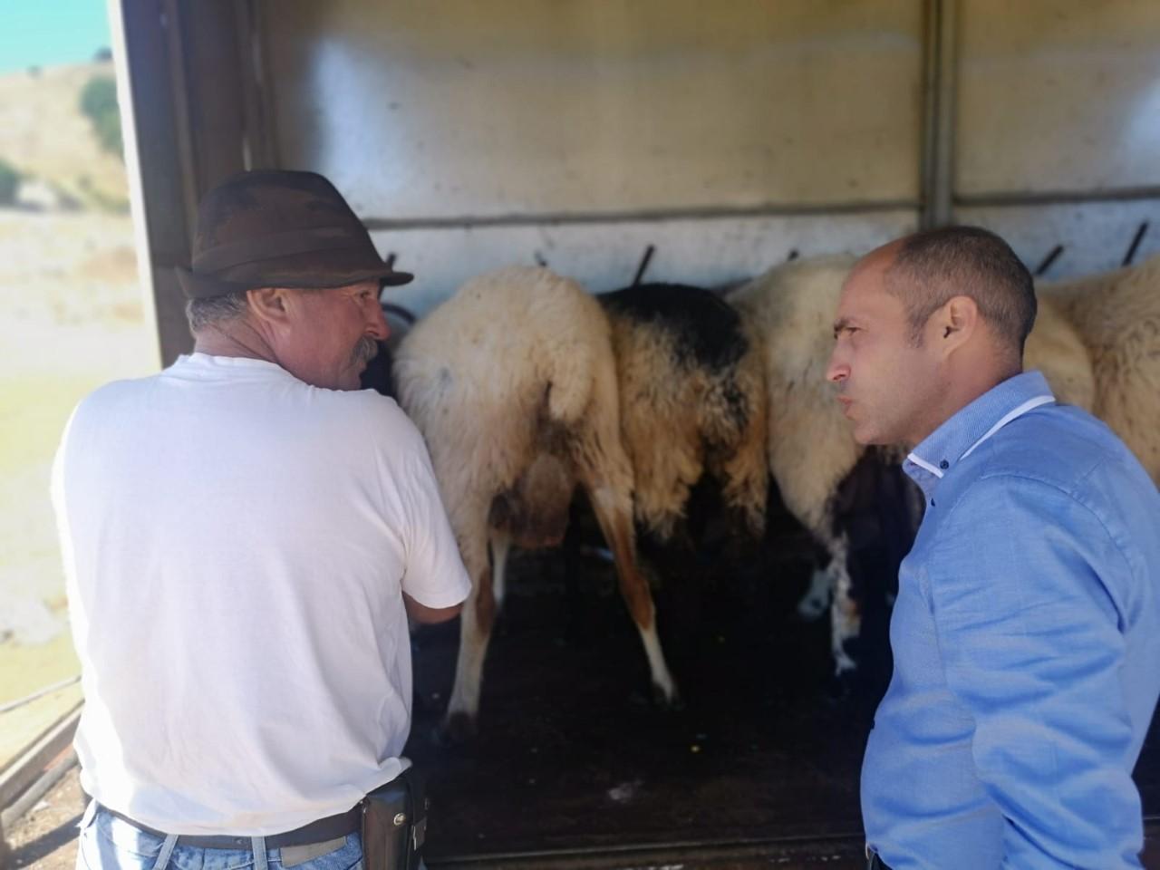 David Cabrera visita una instalación ganadera