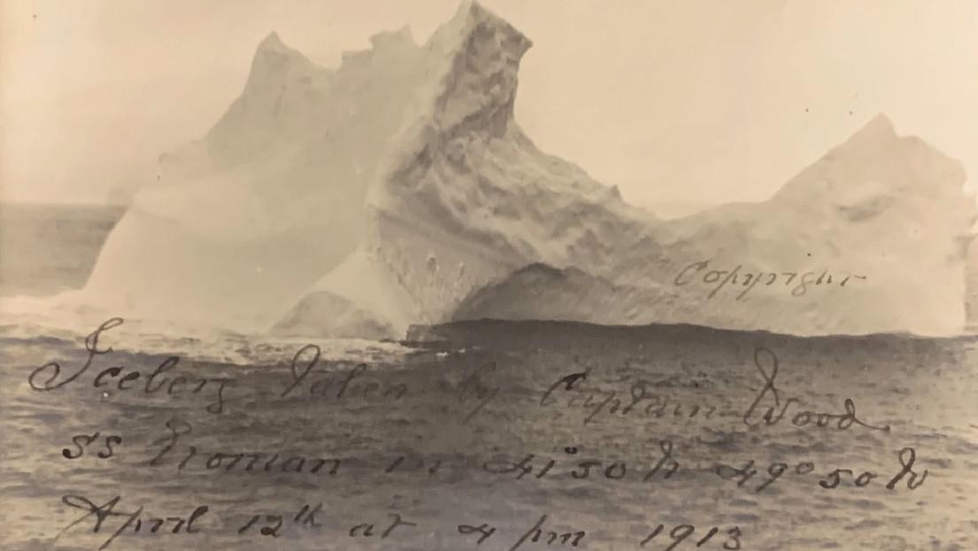 Fotografía del presunto iceberg que hundió al Titanic