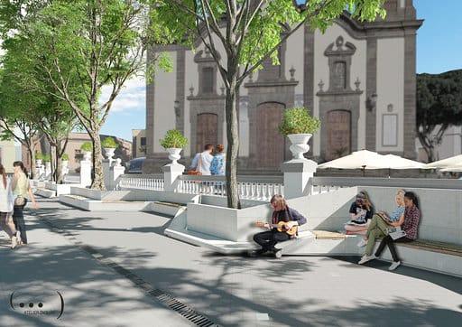 Pedro Rodríguez presenta el proyecto de rehabilitación de la Plaza Grande de Guía dotado con una partida de 750.000 euros