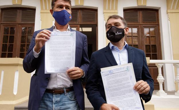 Presentación de la moción de censura a Patricia Hernández. Santa Cruz de Tenerife