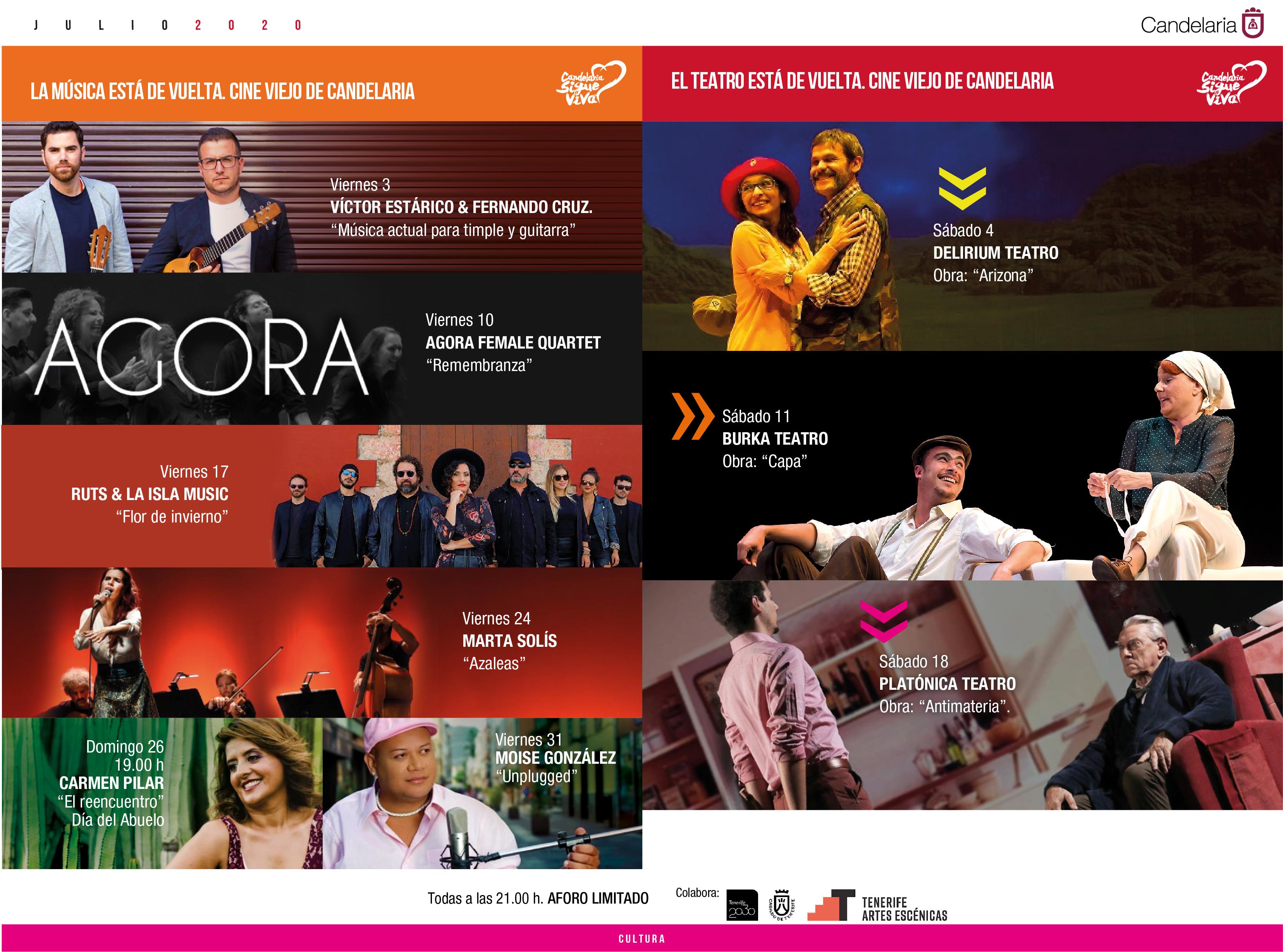 El Cine Viejo de Candelaria reabre sus puertas con una programación de teatro y música