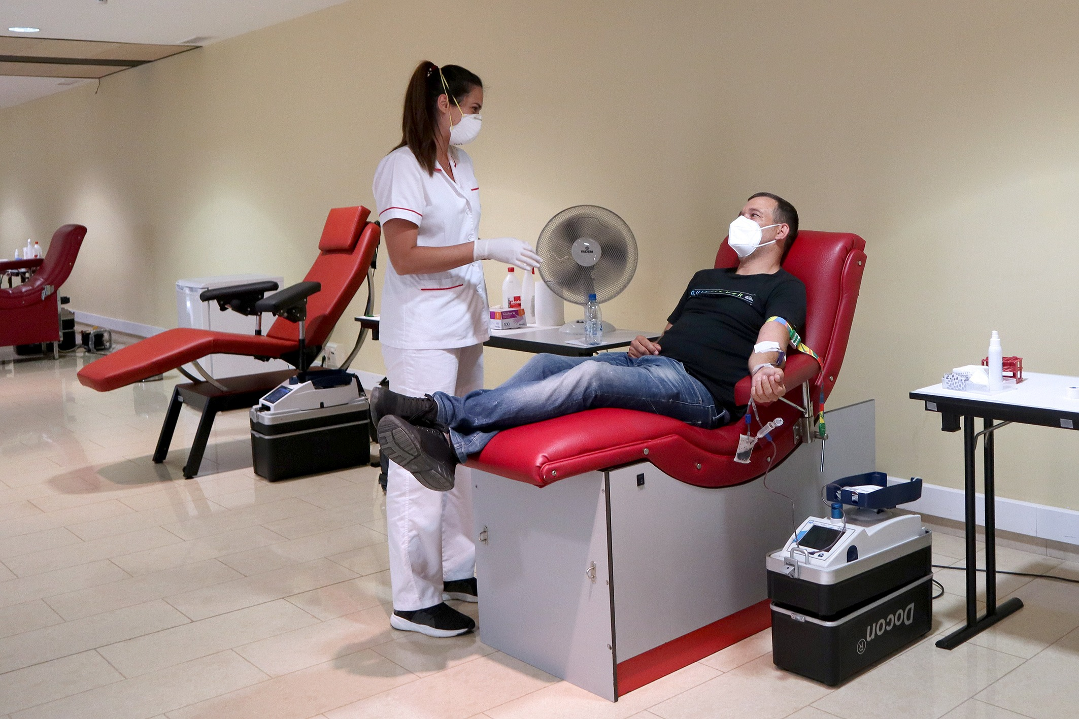 Donación de sangre en el Auditorio Alfredo Kraus