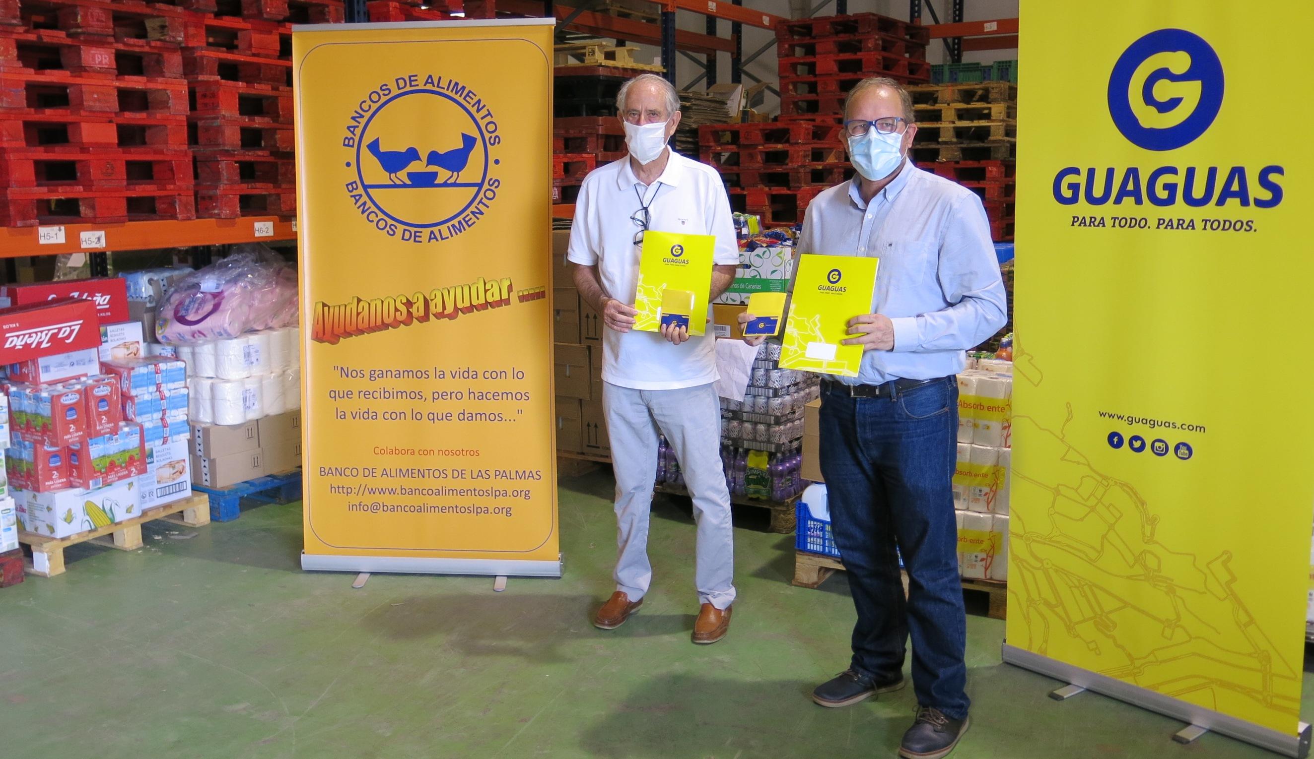 Guaguas Municipales coopera con el Banco de Alimentos. Las Palmas de Gran Canaria