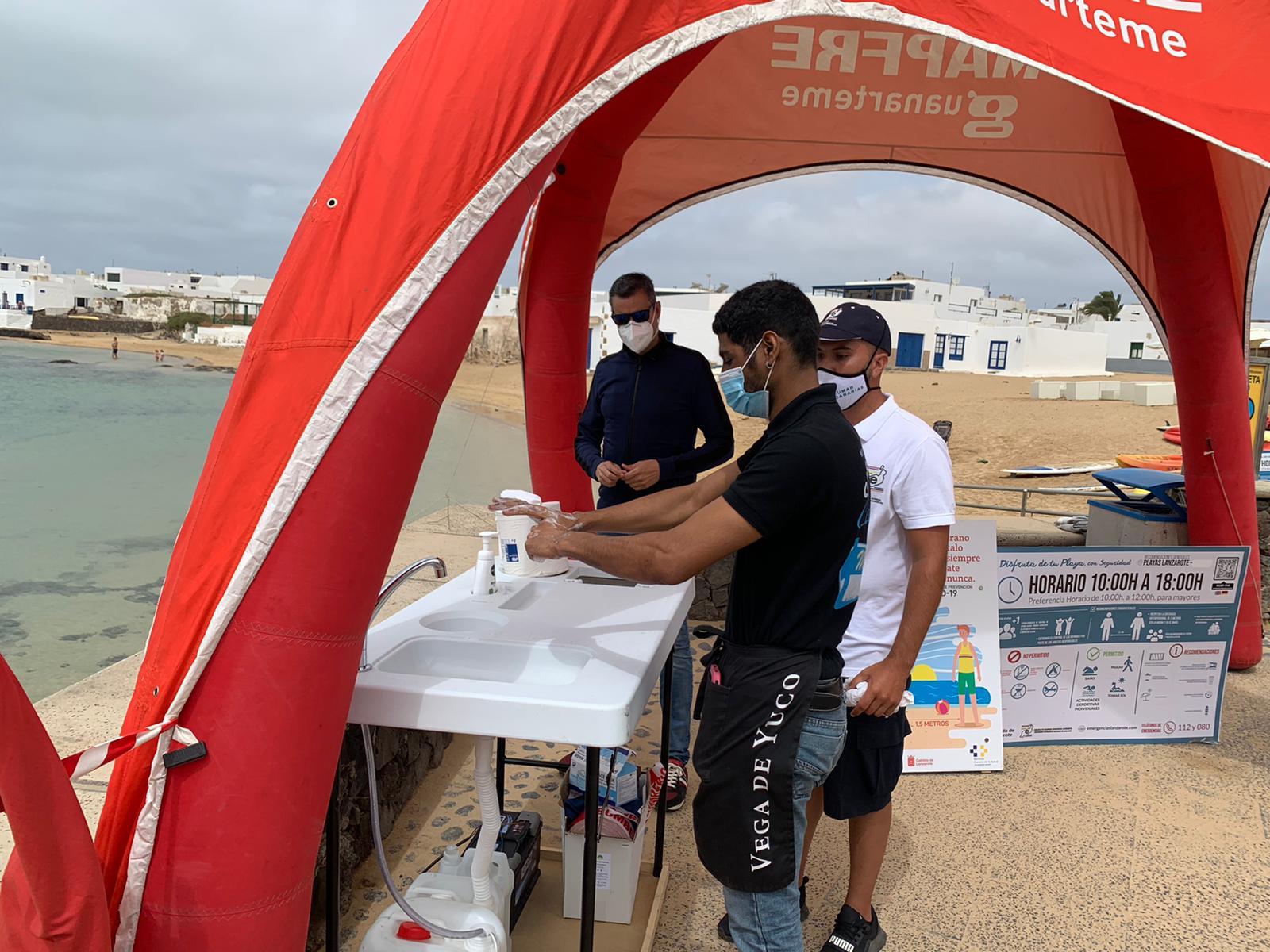 Campaña para prevenir ahogamientos y accidentes en La Graciosa