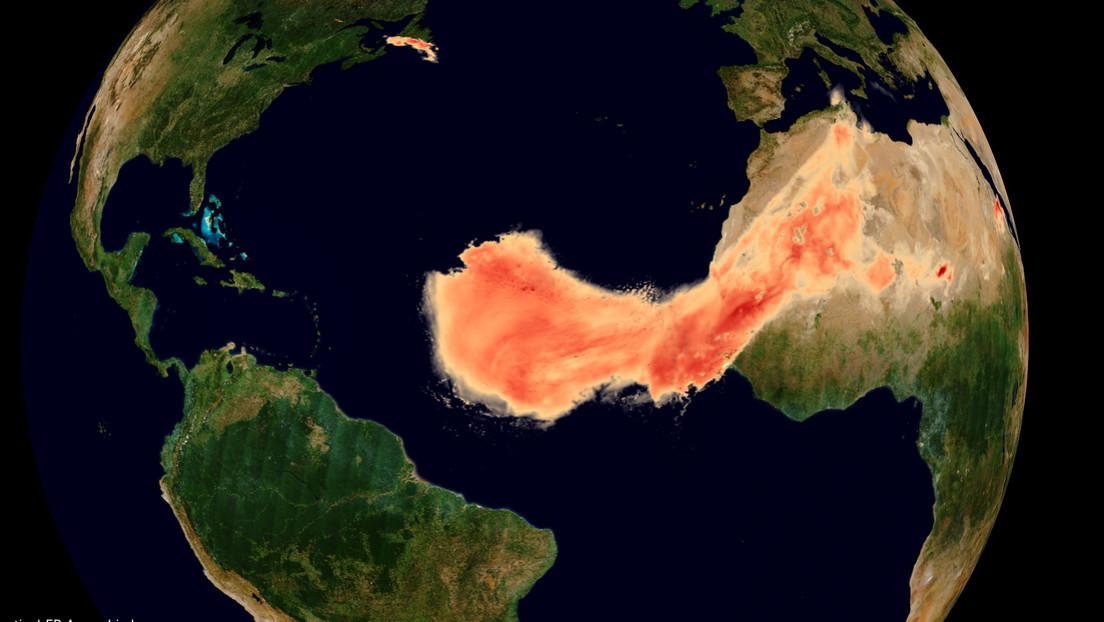ube de polvo del Sáhara captada por la ESA