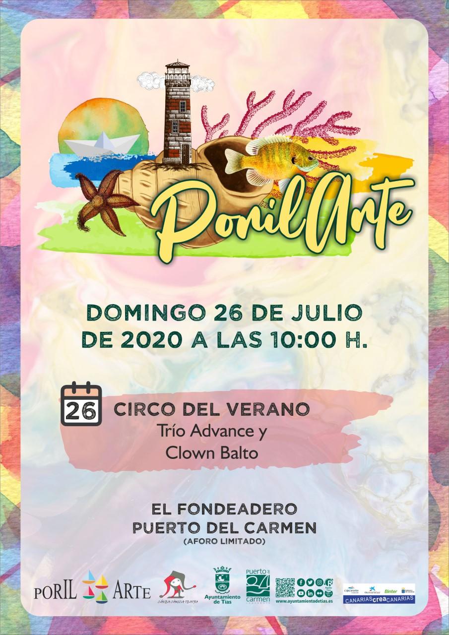 PorilArte vuelve a escena este domingo con espectáculos para los más pequeños en Tías
