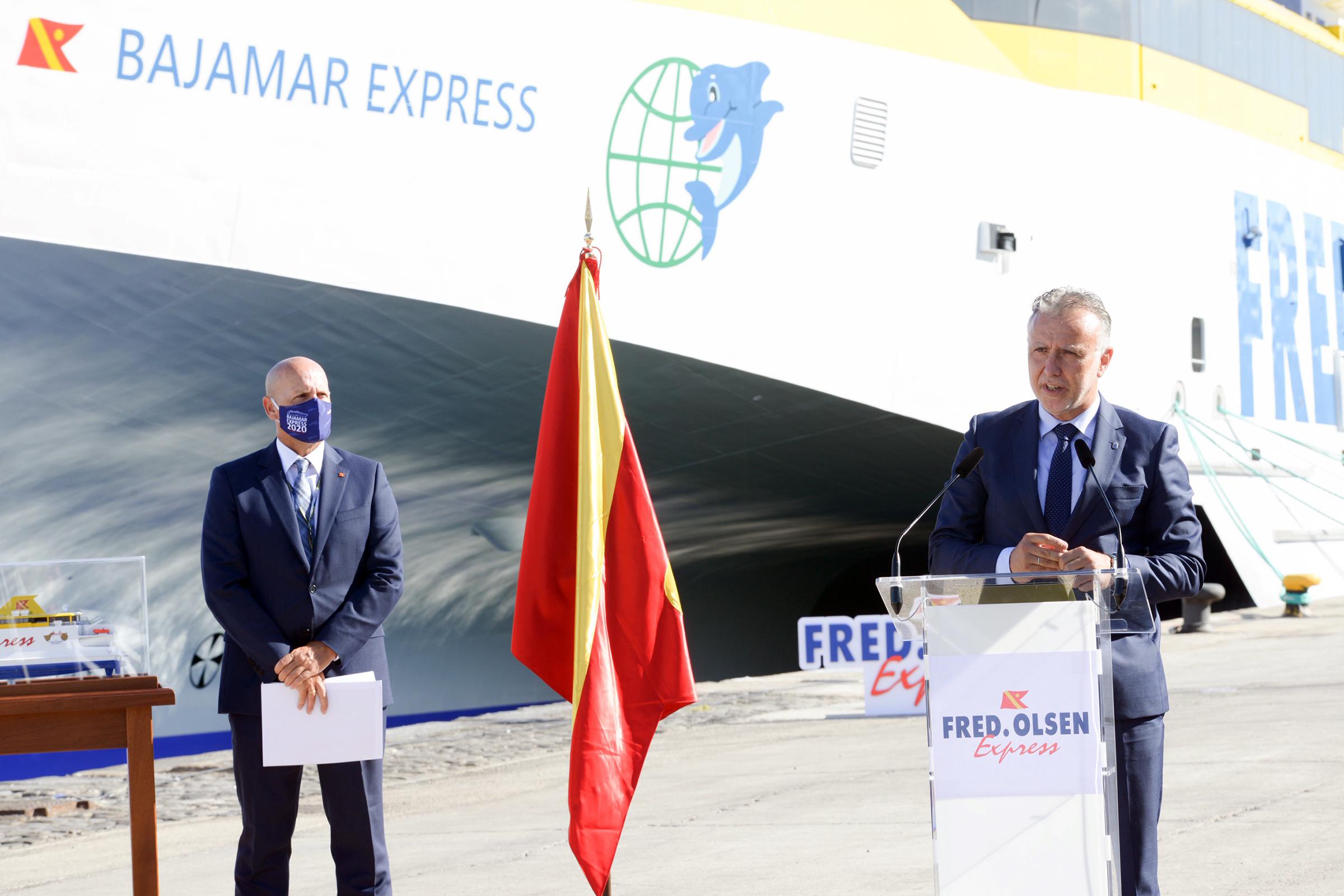 Presentación del buque Bajamar Express de Fred Olsen. Canarias