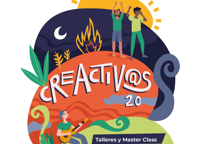 """Cartel encuentro """"Creativos"""" Las Palmas de Gran Canaria"""