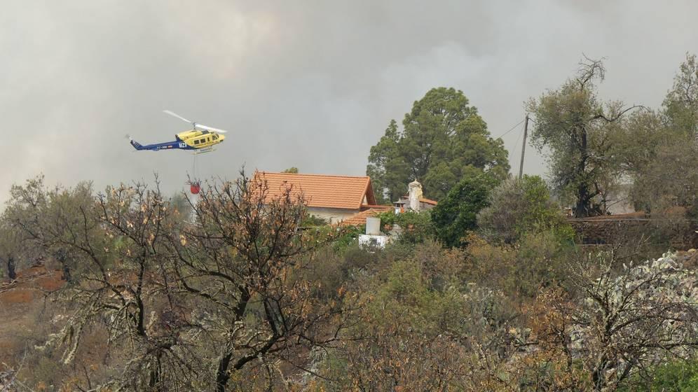 Incendio en La Palma. Santo Domingo. Garafía