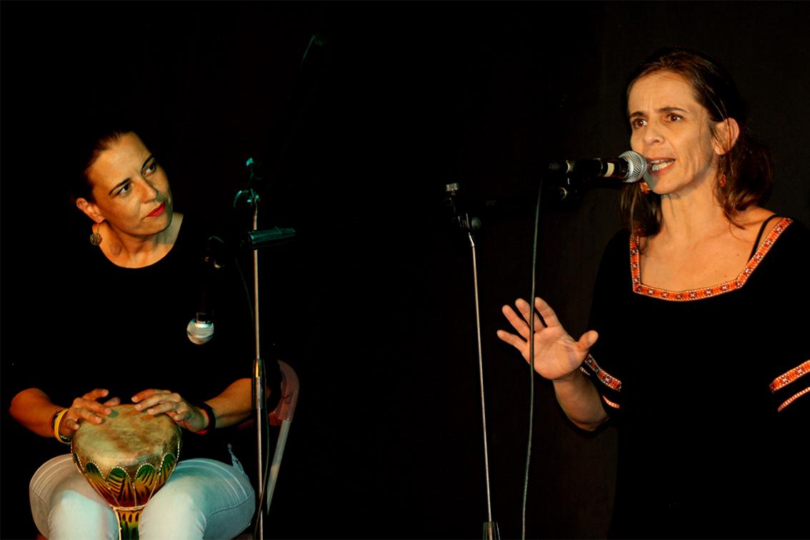 """Samantha Moreno y Rocío Afonso. Festival """"Verano de Cuento"""" Tenerife"""