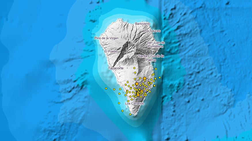 Serie sísmica en La Palma