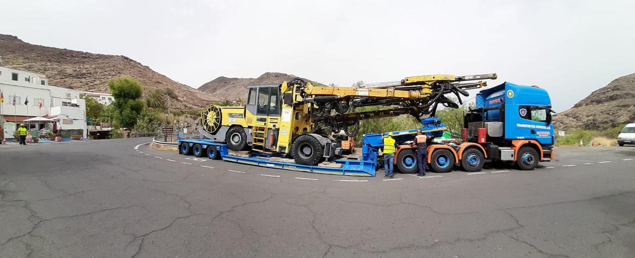 Obras de la carretera a La Aldea. Gran Canaria