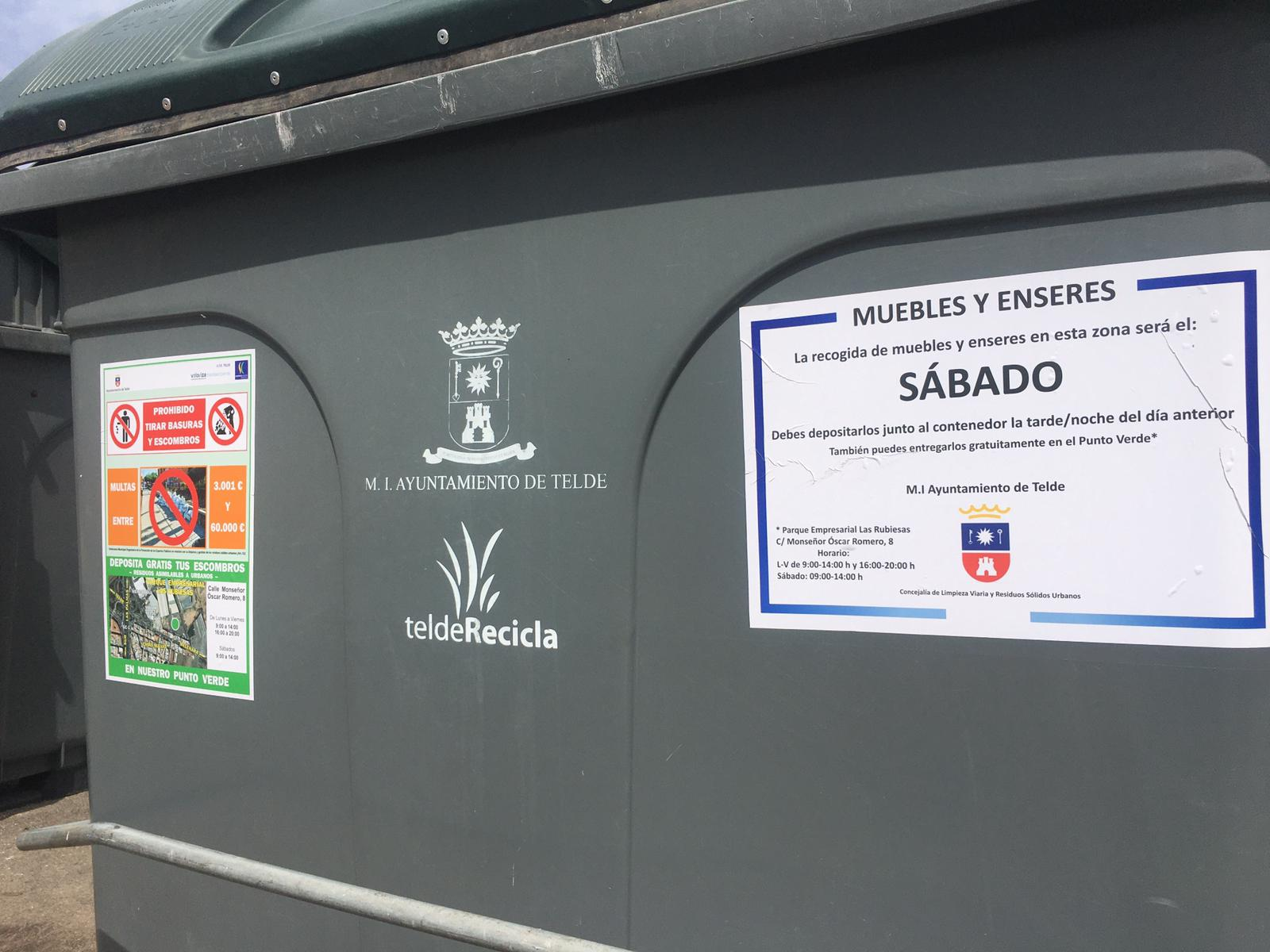 Telde inicia una nueva campaña para evitar los vertidos irregulares de escombros y enseres