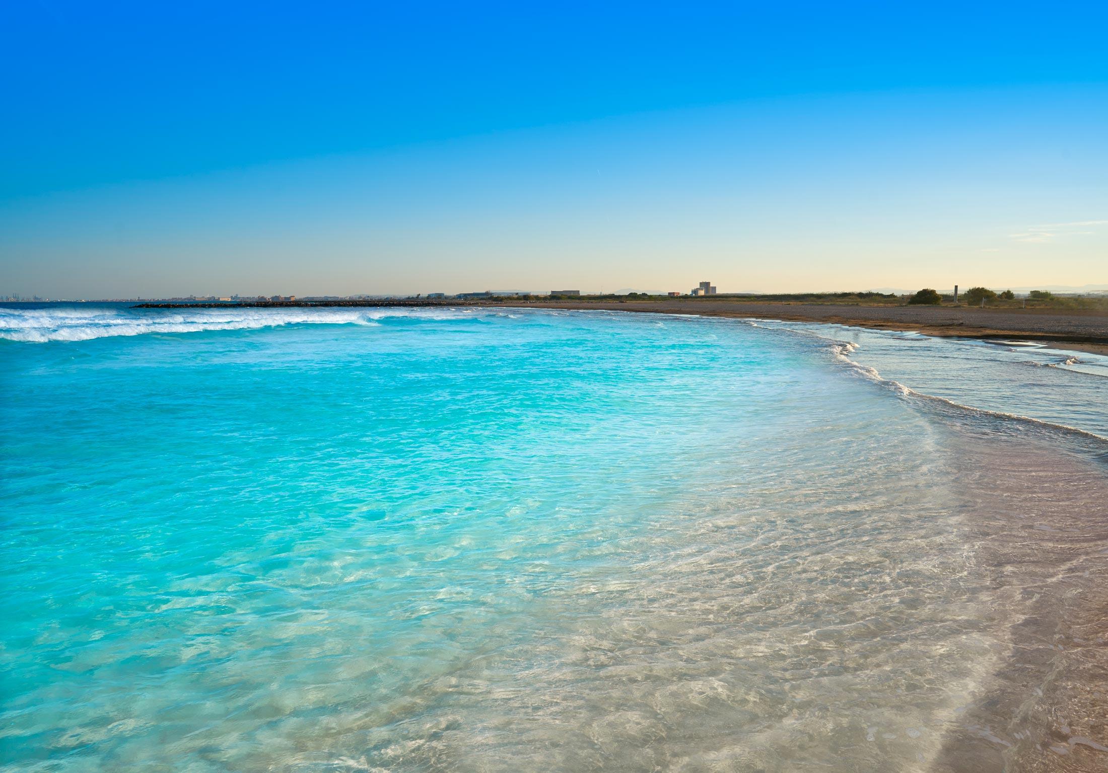 La playa de Massamagrell. Valencia