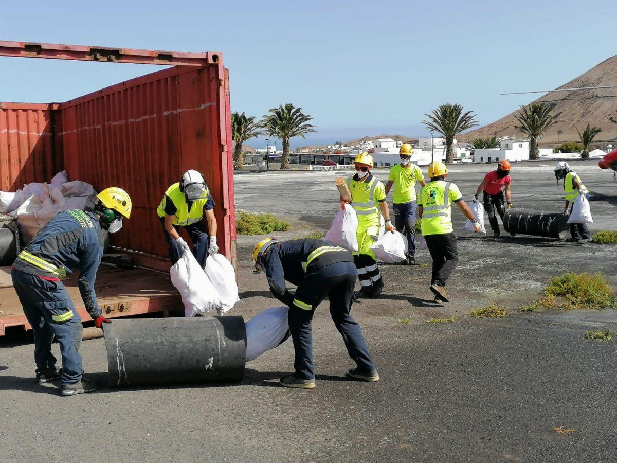Recogida de residuos del Parque Nacional de Timanfaya. Lanzarote