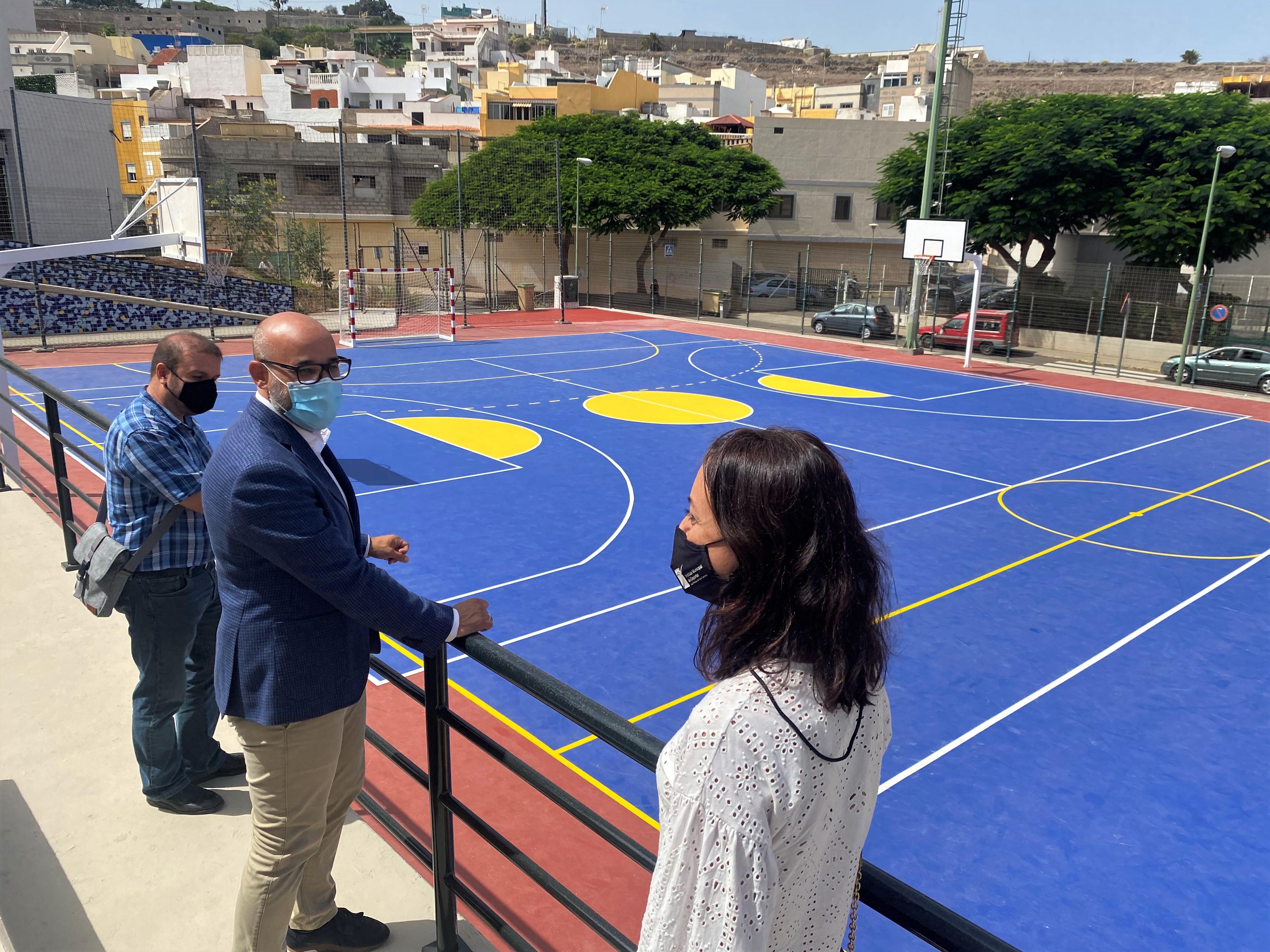El IMD invierte 45.000 euros en la renovación de las canchas deportivas de Hoya Andrea
