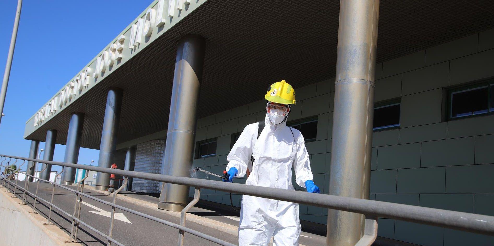 Desinfeción Hospital Dr. Molina Orosa. Lanzarote
