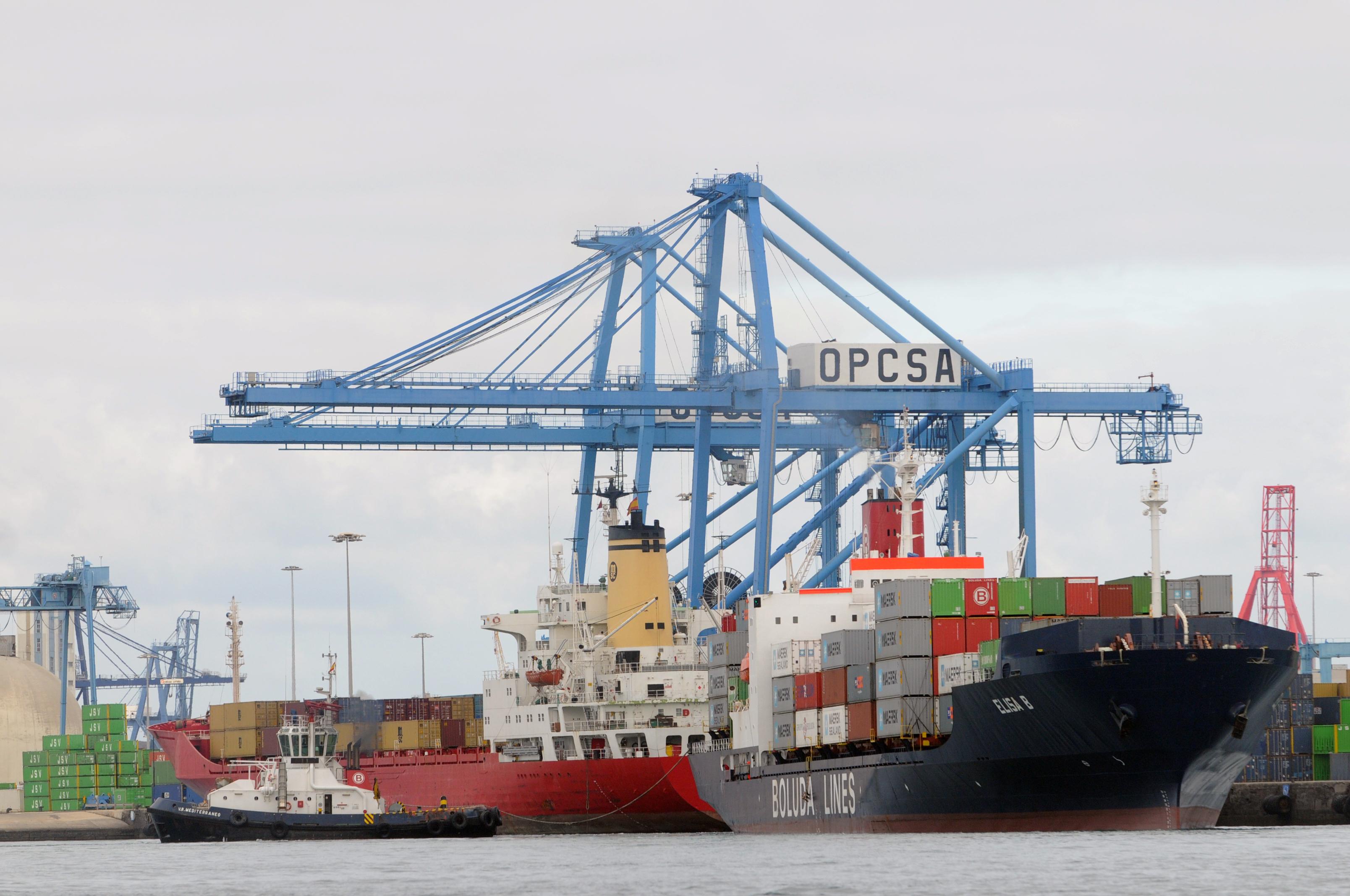El tráfico marítimo con África mantiene la fortaleza del Puerto de La Luz con un incremento del 0'32% en septiembre